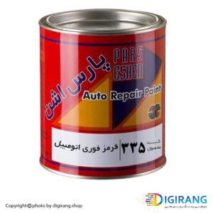 رنگ قرمز فوری چوب و اتومبیل پارس اشن کد 335