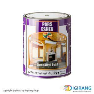 رنگ قهوه ای سیر روغنی پارس اشن کد 672