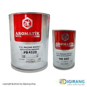 رنگ پلی یورتان سفید مات آروماتیک ترکیه 3.750 کیلوگرم کد PB4320 به همراه خشک کن