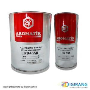 رنگ پلی یورتان سفید نیمه مات آروماتیک ترکیه 4.5 کیلوگرم کد PB4350 به همراه خشک کن